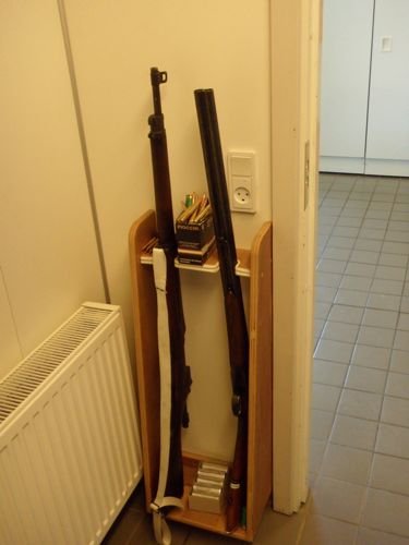 Weapons inside the Siruis Sledge Patrol building.