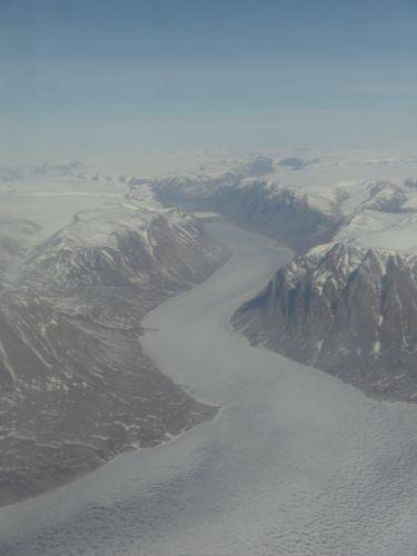 Mountain glacier near Daneborg