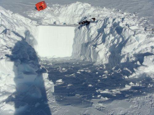 Second snow pit