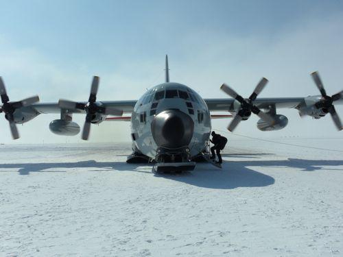 Ski-equipped Hercules C-130