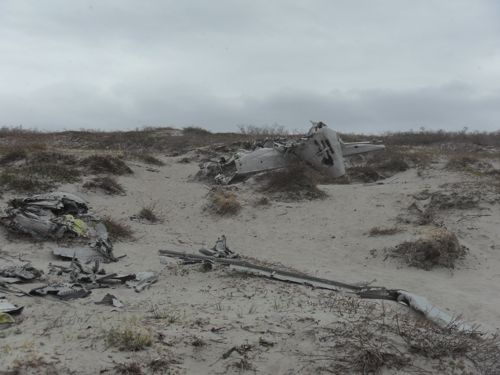 Site of military plane wreckage.