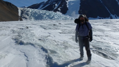 Ice Falls on Canada Glacier