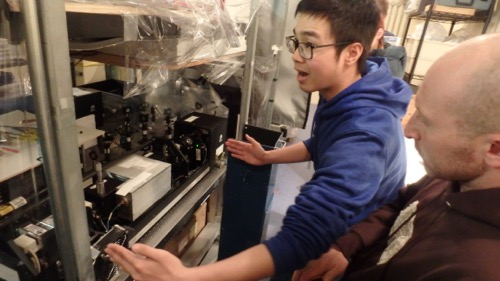 Zhengyu (Harry) Hua and the LIDAR laser