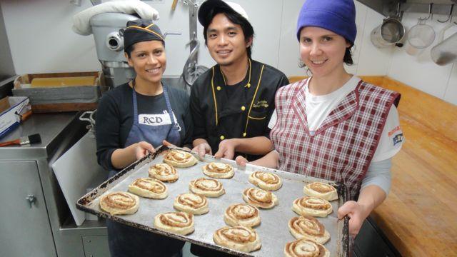Baking team at the Palmer
