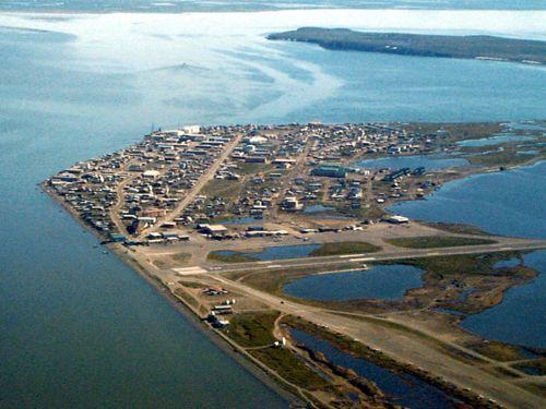 19 july 2010 kotzebue alaska polartrec kotzebue aerial view publicscrutiny Images