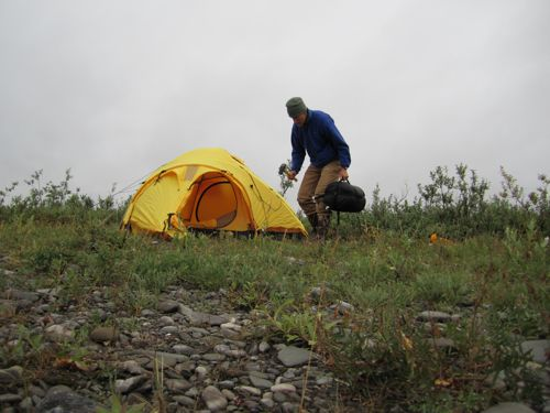 Tent for the Guests & 23 July 2010 Native Visitors Coming!   PolarTREC