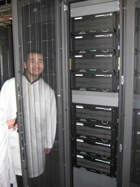 Bakhtiyar with some servers