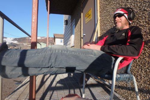 Back porch sitting