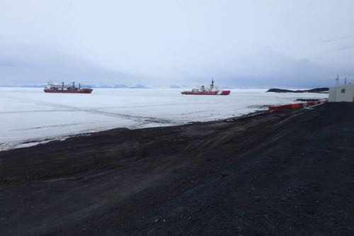 Icebreaker and re-supply ship