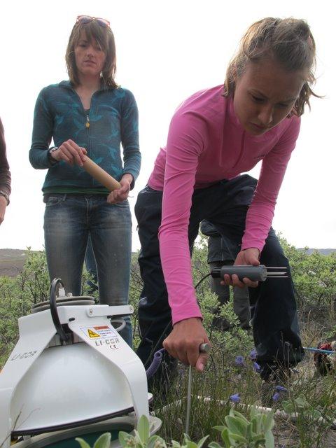 Aima measures soil moisture