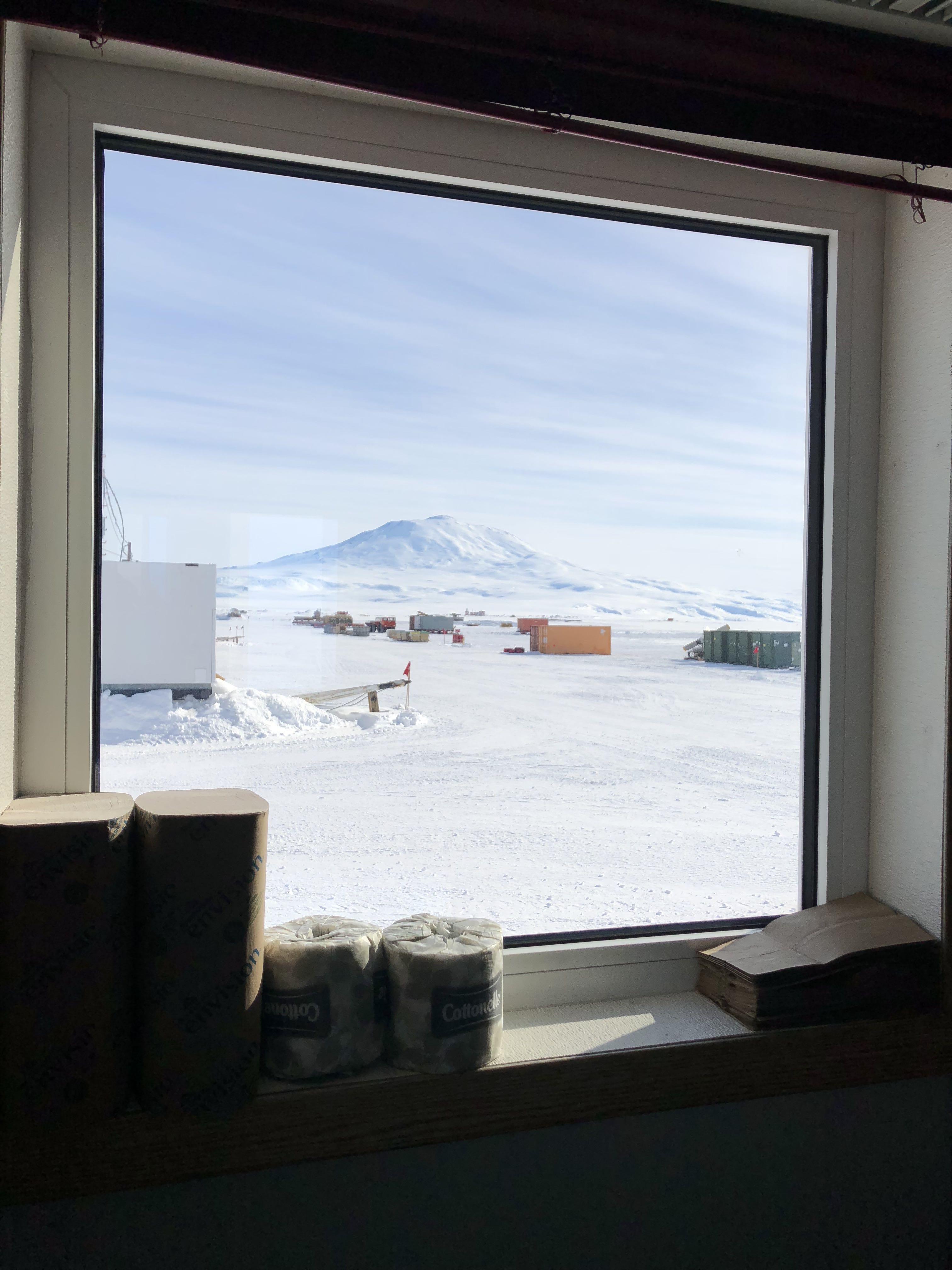 Mt. Erebus framed