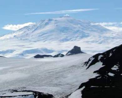Mt. Erebus viewed from Observation Hill.