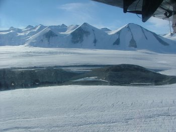 Gemini Nunataks on Shackleton Glacier.