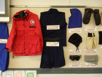 Some of the Extreme Cold Weather (ECW) gear we were issued at the CDC.