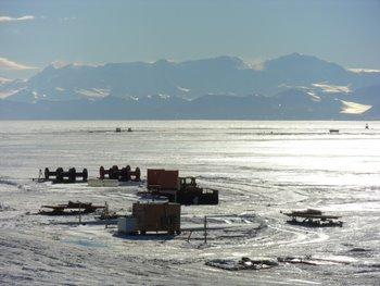 Sea Ice Runway at McMurdo.