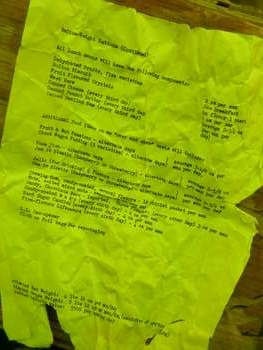 Food ration list from Operation Deep Freeze, page 2.