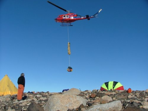 Ideal helicopter weather in Antarctica.