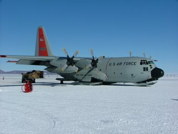 Hercules on the skiway at CTAM.