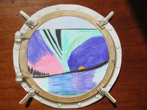 Through the Porthole artwork by Springs School 8th grade student.