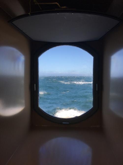View through the porthole!