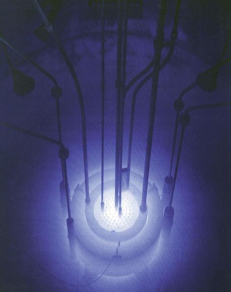 Uranium glowing blue