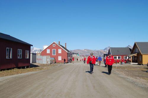 Tourists in Ny Ålesund