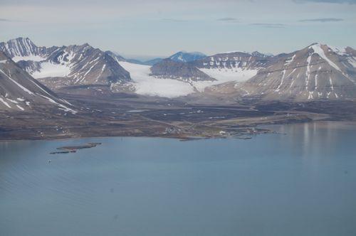 Ny Ålesund from the air