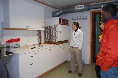 Rachel and Daren and core samples
