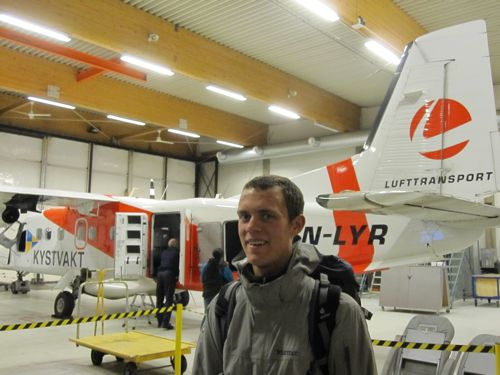 George in Longyearbyen airport