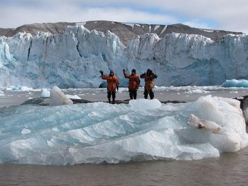 standing on an iceberg