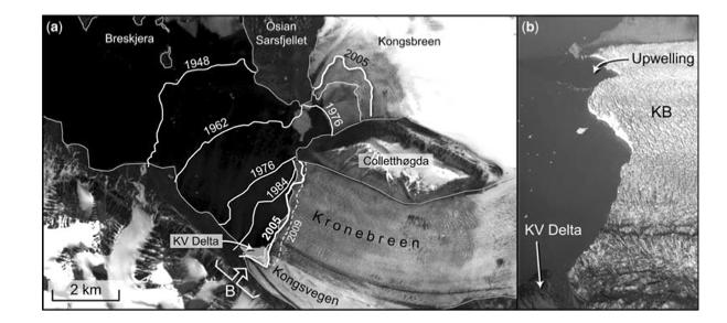 recession of Kronebreen glacier