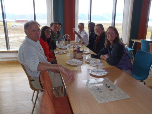 The REU team at dinner