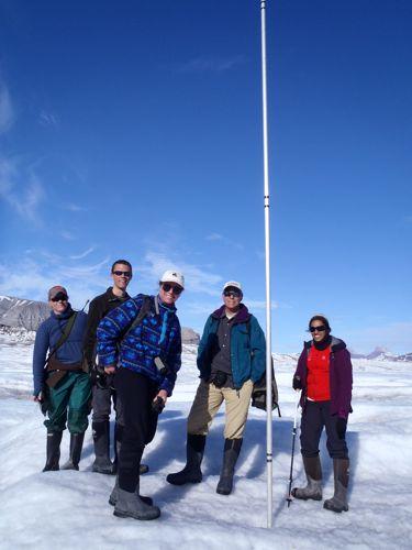 Kongsbreen glacier - ablation stake