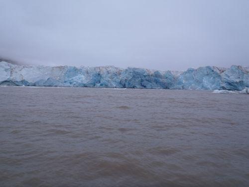 Kronebreen glacier - ice free