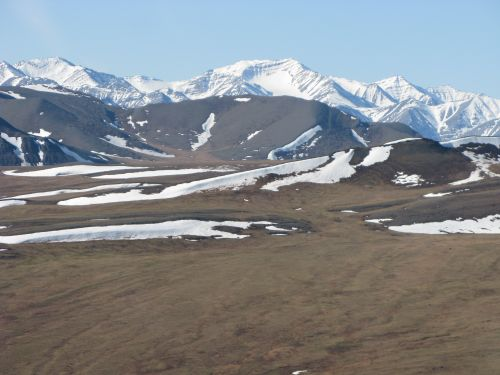 View of the Brooks Range from the helo