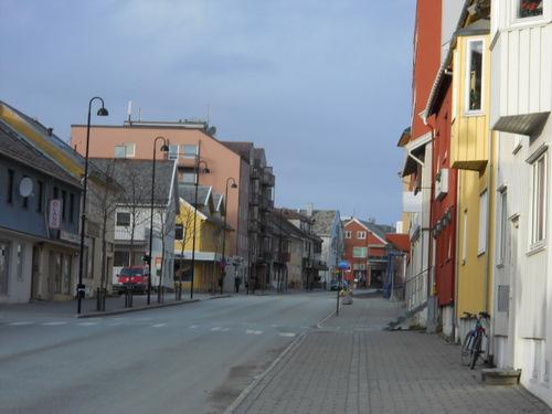 A typical street in Bodo, Norway