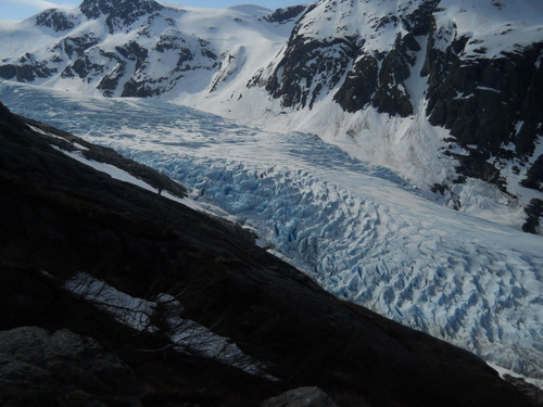 The rest of the glacier.