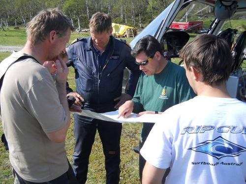 Victor Jara making radar survey plans