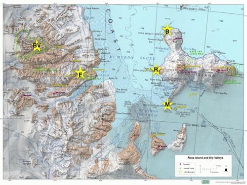 November A Continent A Lake And A Glacier PolarTREC - Marks lake maps