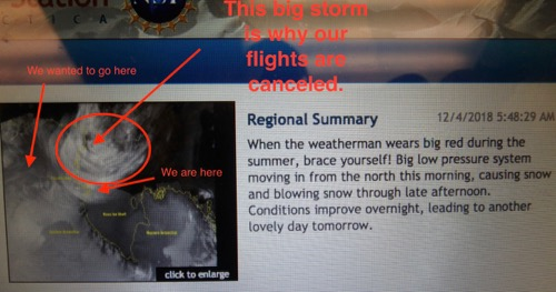 Sat map of storm