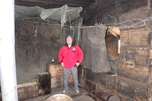 Me inside hut