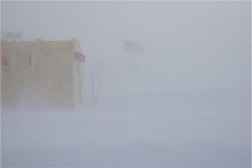 Blowing snow at WAIS