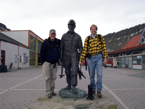 Mike Retelle and Al Werner with the Longyearbyen miner