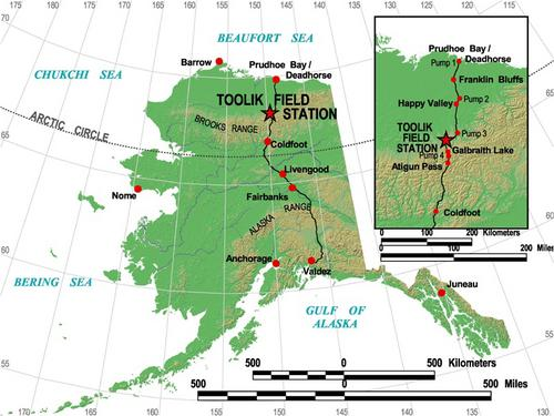 Map of the Dalton Highway