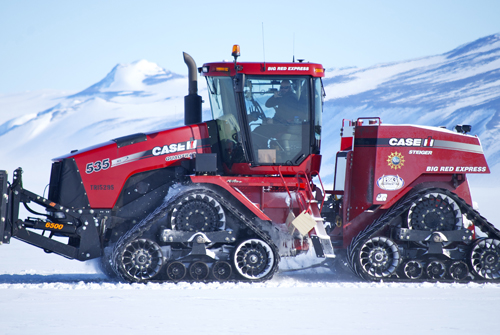 Tractor suited up for Antarctic work