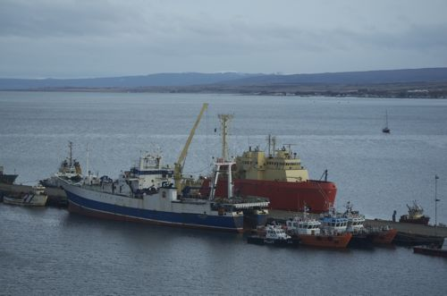 ARSV Laurence M. Gould docked in Punta Arenas, Chile