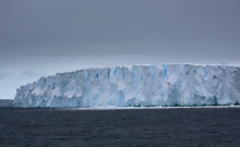 icebergs can frequently be seen from the deck of the R/V Nathaniel B. Palmer