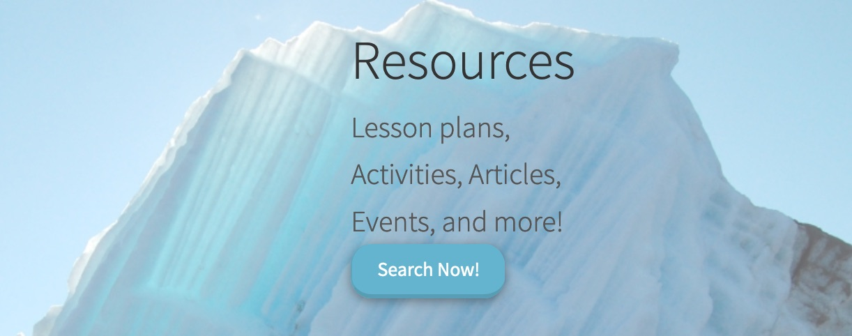 Screen shot of resources page.