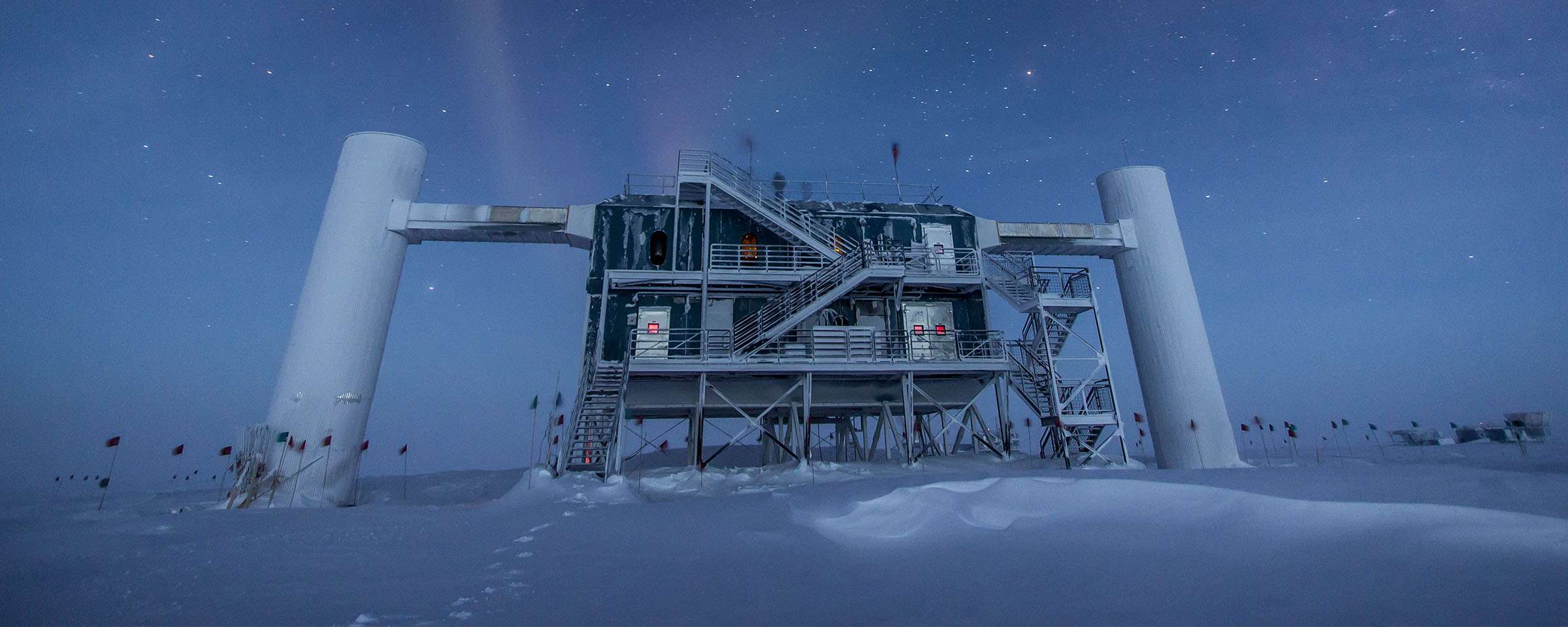 The IceCube Lab under the stars Credit: Felipe Pedreros. IceCube/NSF