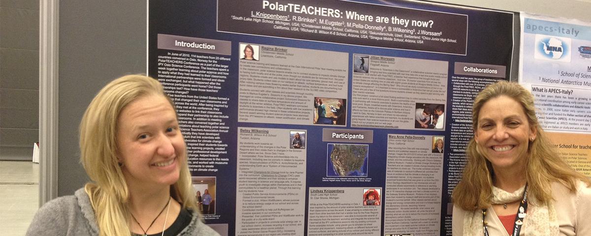 PolarTREC teachers presenting at IPY Montreal 2012